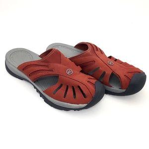 d6c3e4d75460 Keen Shoes - Keen Womens Slide Sandal Slip On Burnt Orange Rust